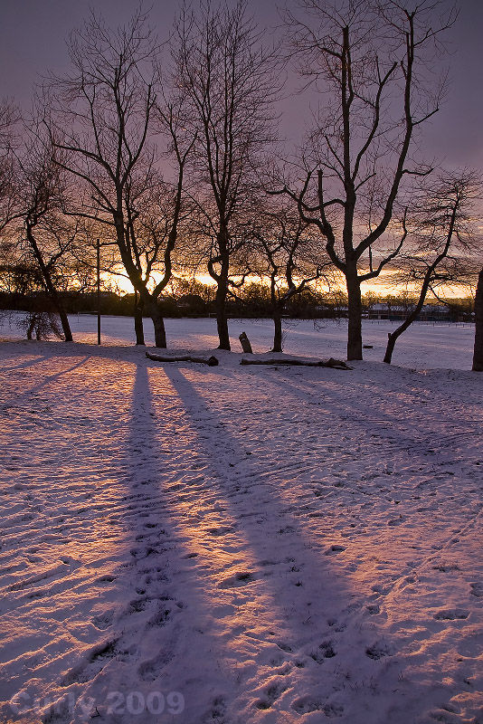 Cleadon Park, South Shields, sunset,