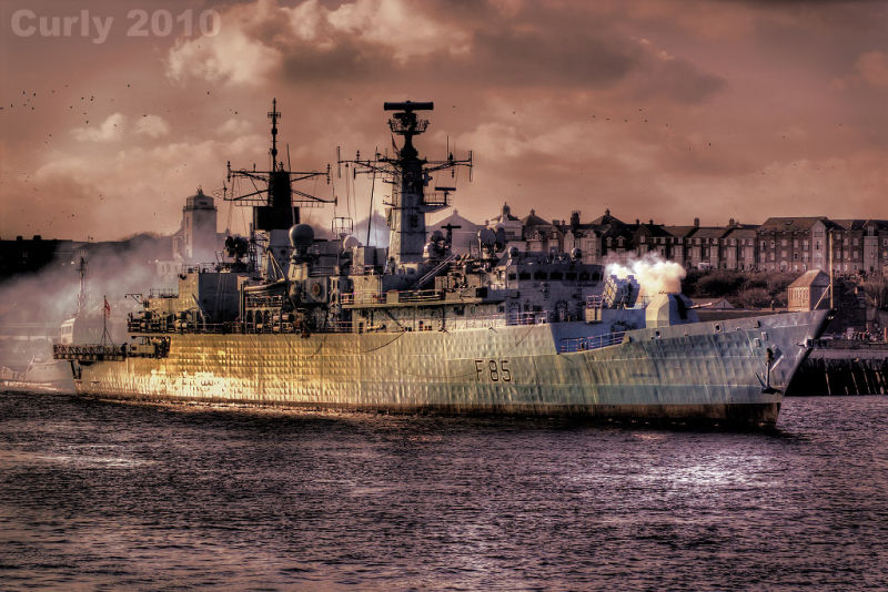 HMS Cumberland in South Shields