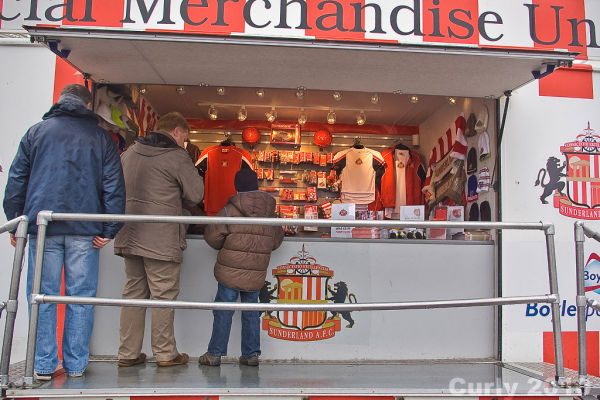 Sunderland Stadium of Light merchandising
