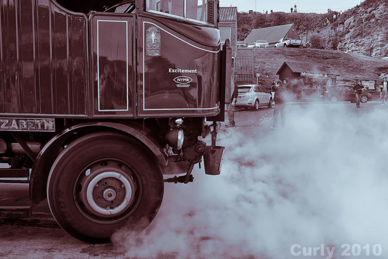 Steam bus in Whitby