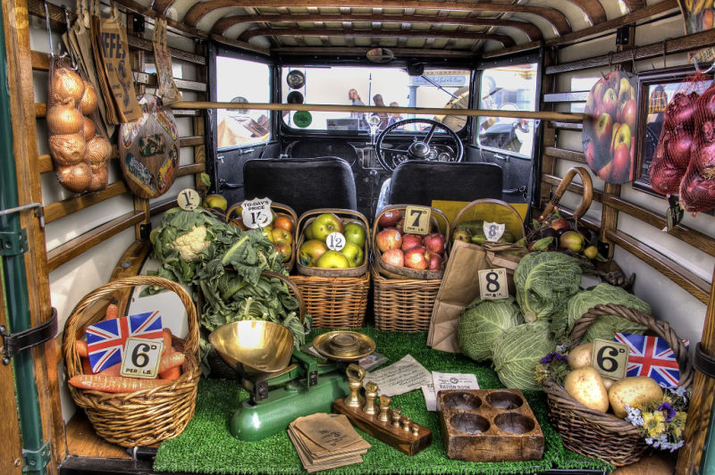 Fruit and Veg van at Whitby