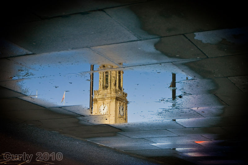 Reflection of South Shields Town Hall
