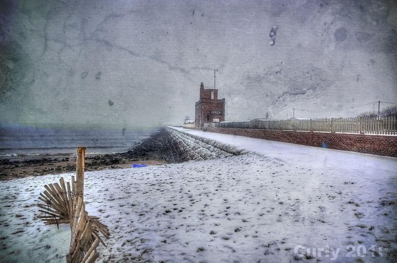 South pier, South Shields, in winter