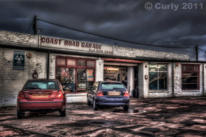 Coast Road garage, Marsden, South Shields