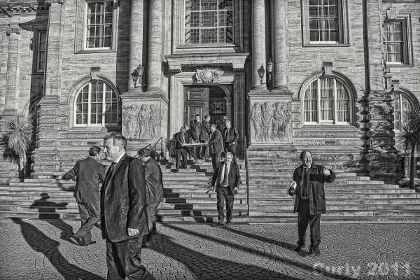 South Shields Town Hall officials