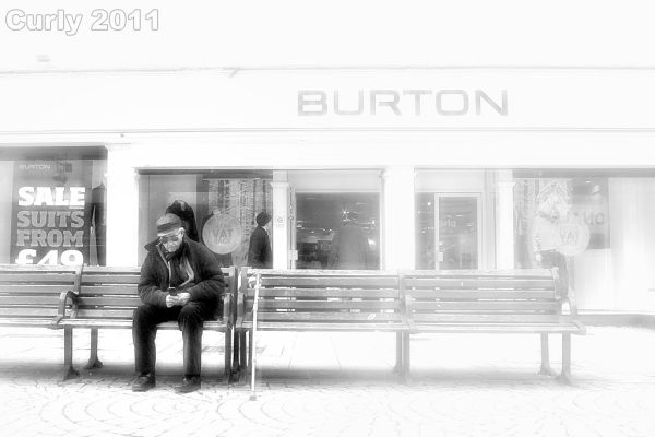 Man texting in South Shields