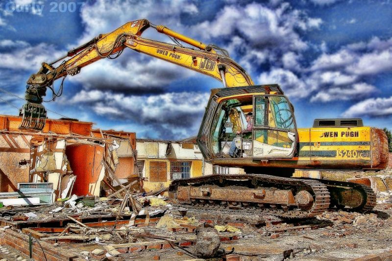 Demolition, riverside South Shields