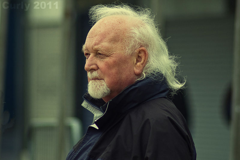 Man at Good Friday parade, South Shields