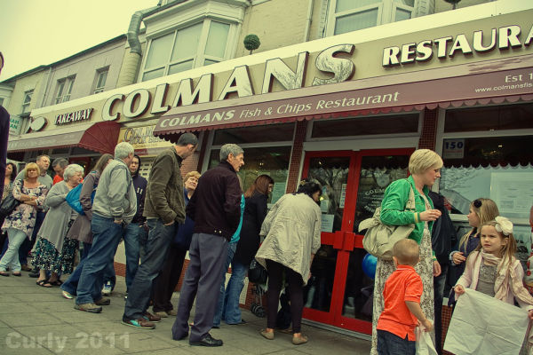Colmans fish and chip shop South Shields