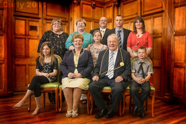 Mayor of South Tyneside Jim Sewell and family