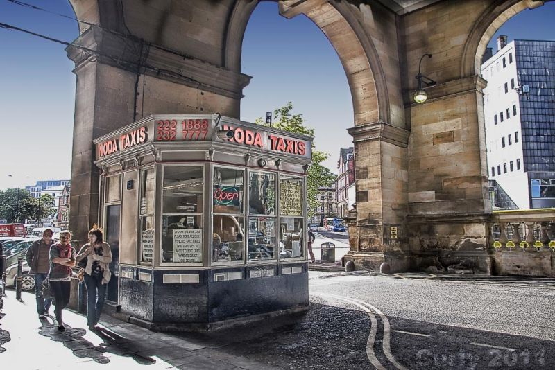 Taxi office, Central Station, Newcastle upon Tyne
