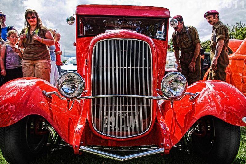 Red car Bents Park, South Shields