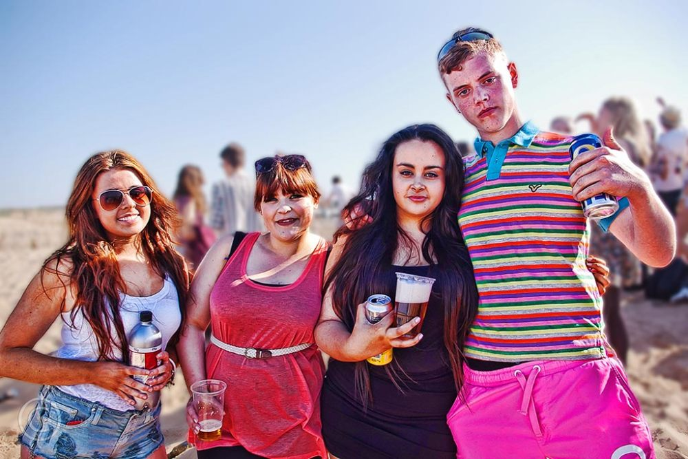 Beach party in South Shields