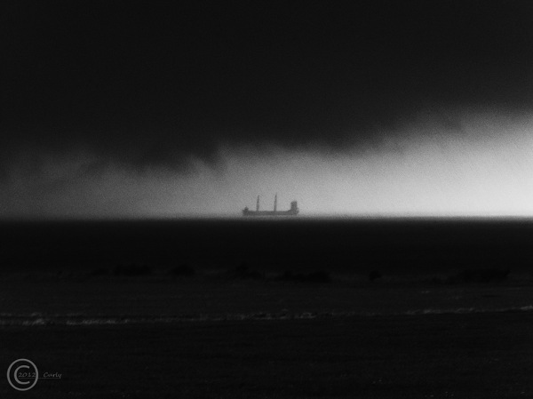 Ship off Sandhaven Beach, South Shields