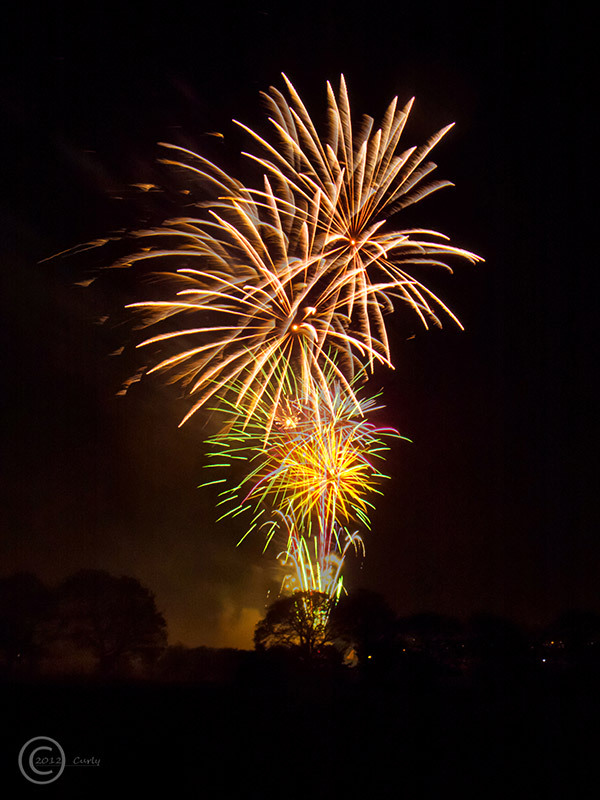 Fireworks at Oakleigh Gardens, Cleadon Village