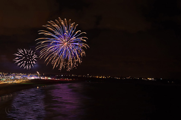 Guy Fawkes Night on the beach