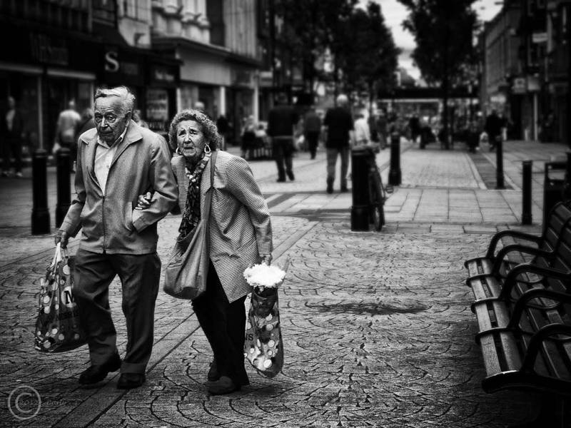 Couple in King Street, South Shields