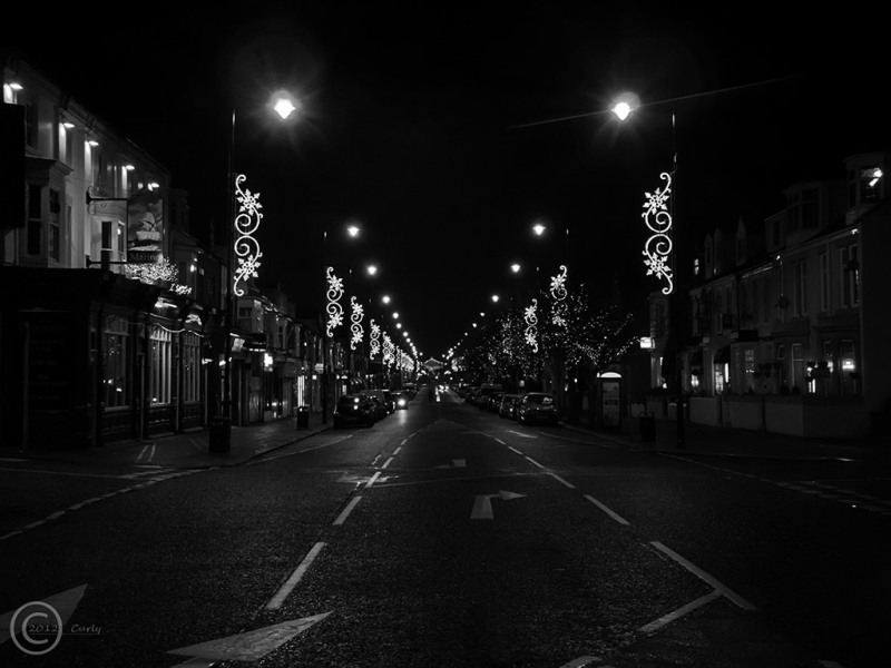 Ocean Road, South Shields at Christmas