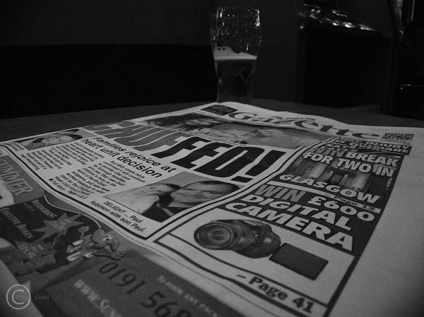 Shields Gazette and a pint.