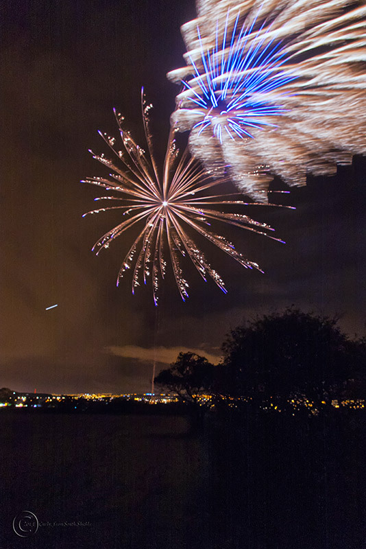 Fireworks, Oakleigh Gardens near South Shields