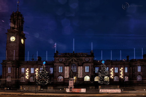 South Shields Town Hall at Christmas 2013