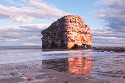Marsden Rock in colour.