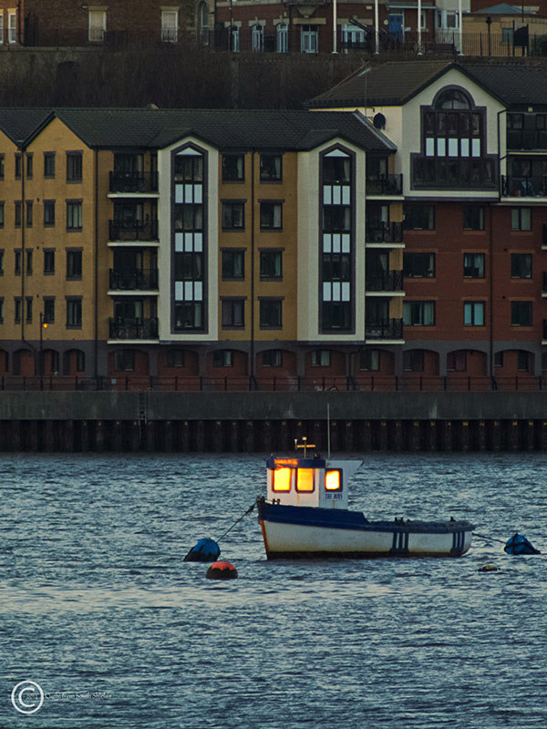 Small boat, River Tyne, South Shields, UK
