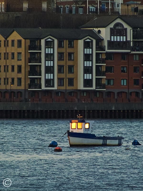 Small boat, River Tyne, South Shields, UK