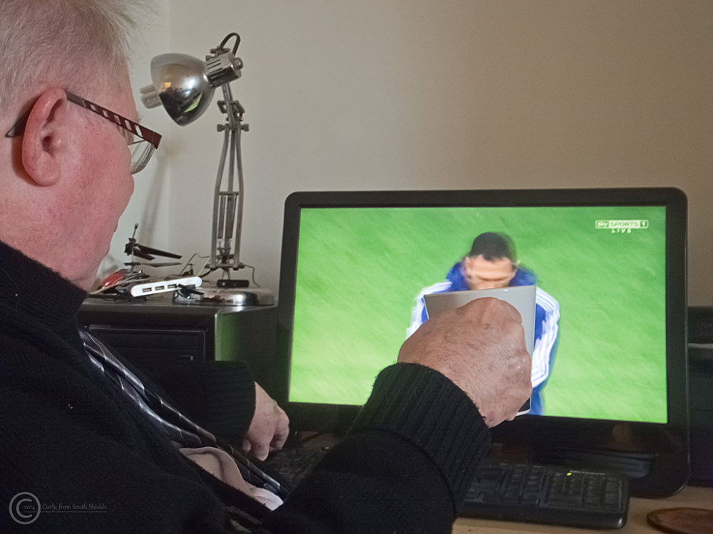 South Shields man watches League Cup Final 2014