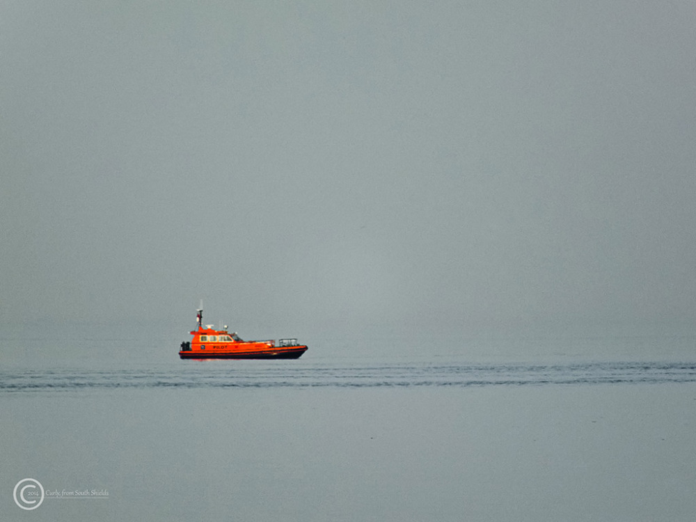 Pilot boat off South Shields, UK