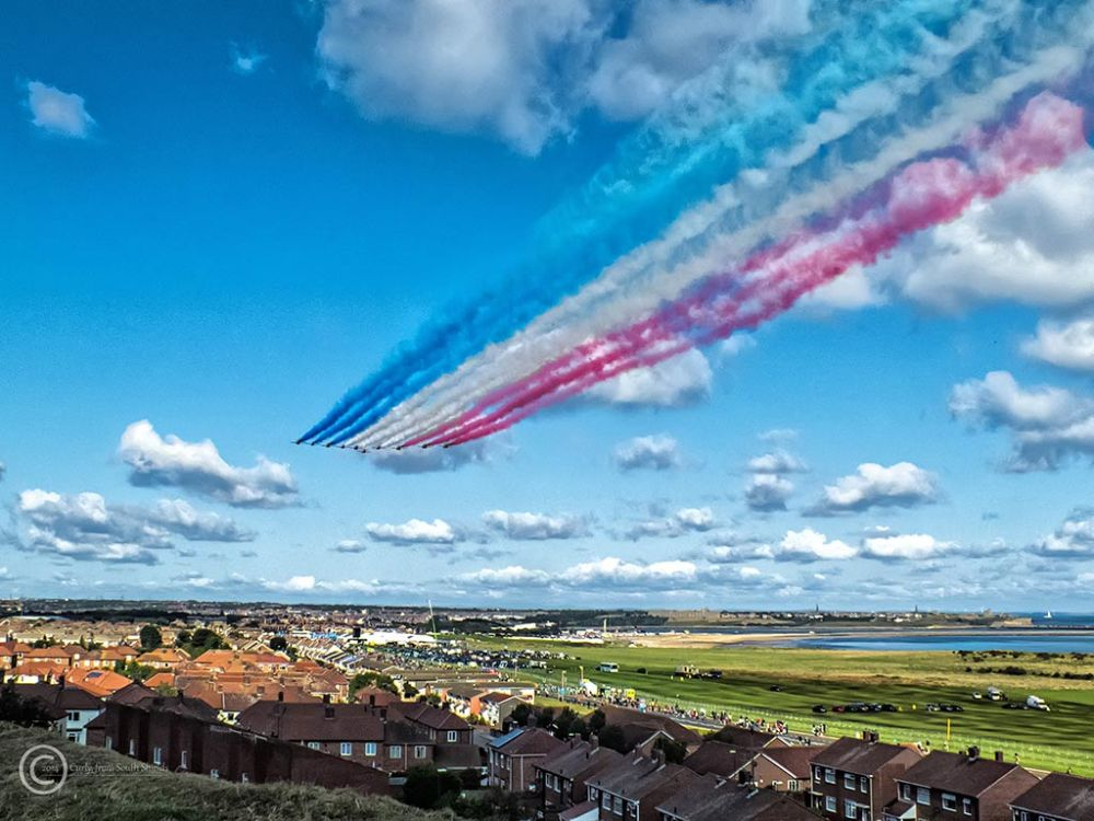 Red Arrows at the Great North Run 2014