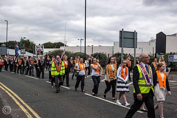 Orangemen parade in South Shields 2014