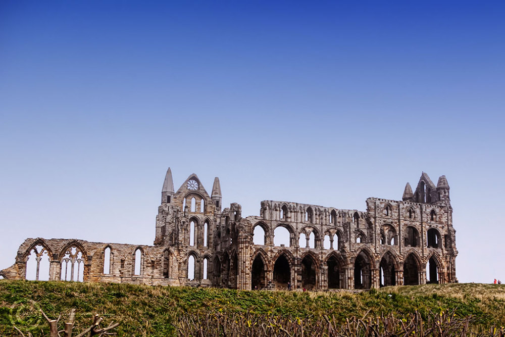 The abbey at Whitby, North Yorks, UK