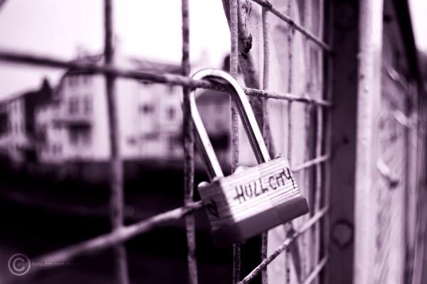 Love lock in Whitby, North Yorks, UK