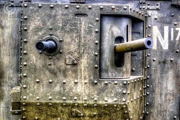 Mk lV World War One tank replica, South Shields