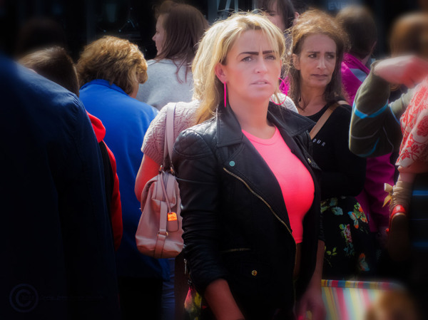 Woman at a concert in the Bents Park South Shields