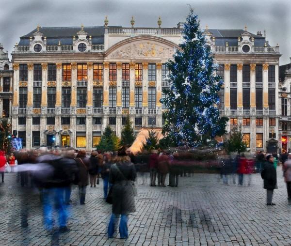 Bruxelles, images de nuit.