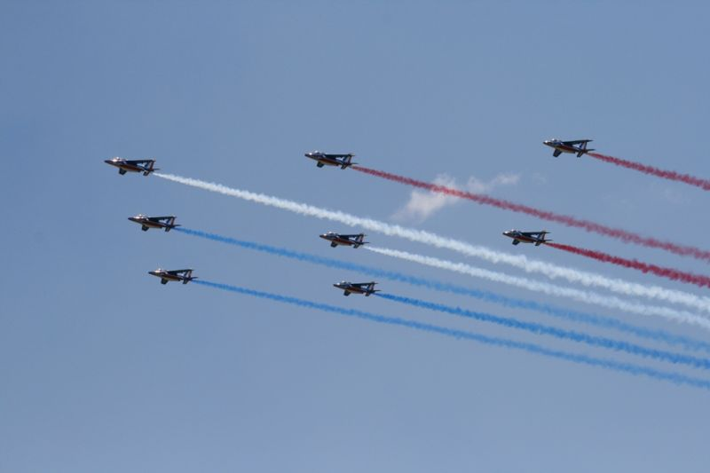 PAF showing our french colors, diamond figure