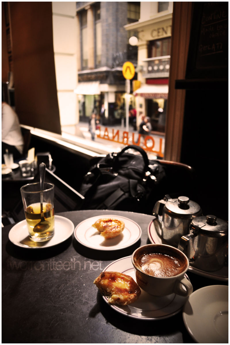 portugese egg tarts, tea & coffee at journal cafe