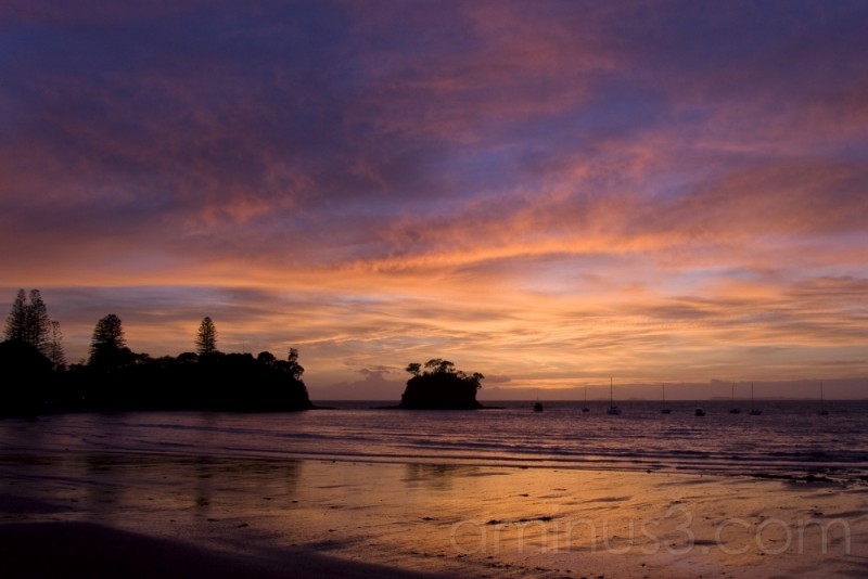 Sunrise at Waiake Beach, Auckland