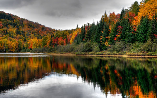 Autumn scenery in Mont-Tremblant, Quebec