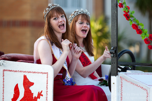 The Enfield carnival queen and princess in Clacton
