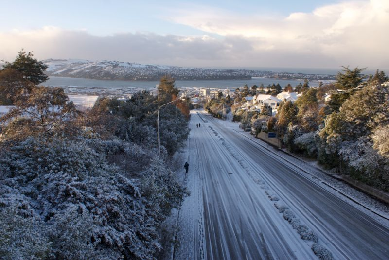 Snow day 2  in dunedin nz