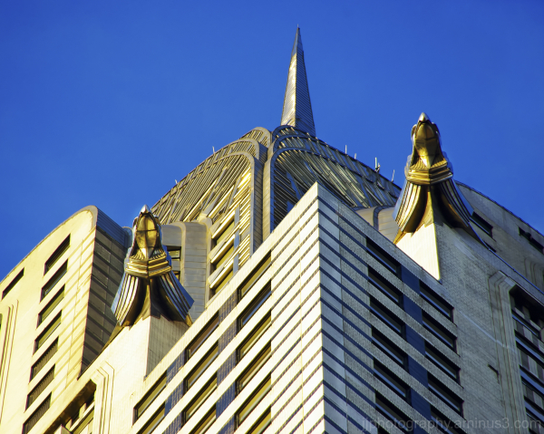 Higher up Chrysler building