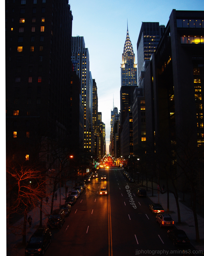 Looking up 42nd street