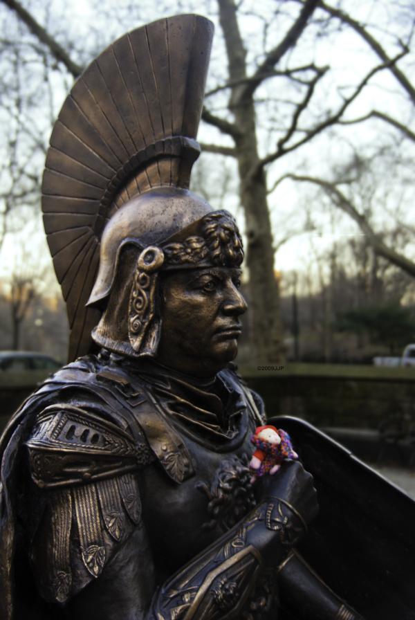 A centurion in Central Park