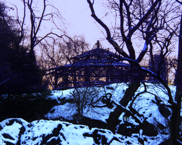 a Gazebo in Central park