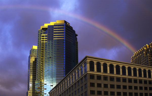 Rainbow in Exchange place