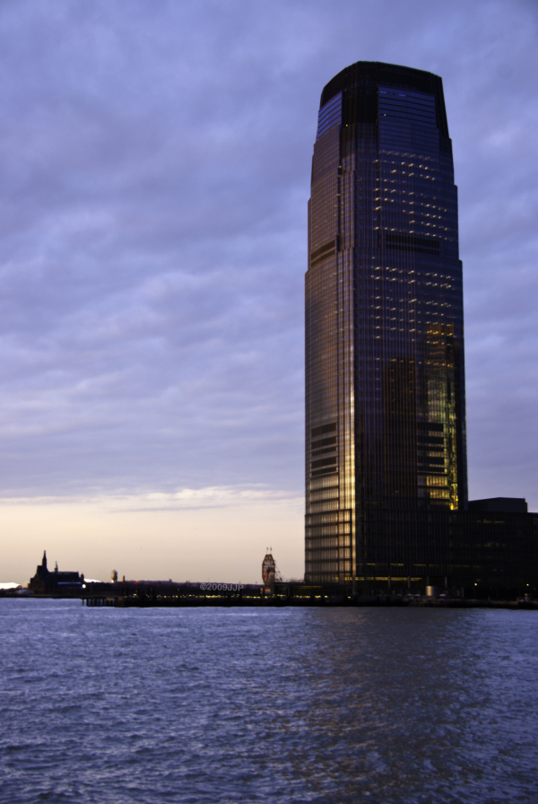 Goldman sachs building in the morning