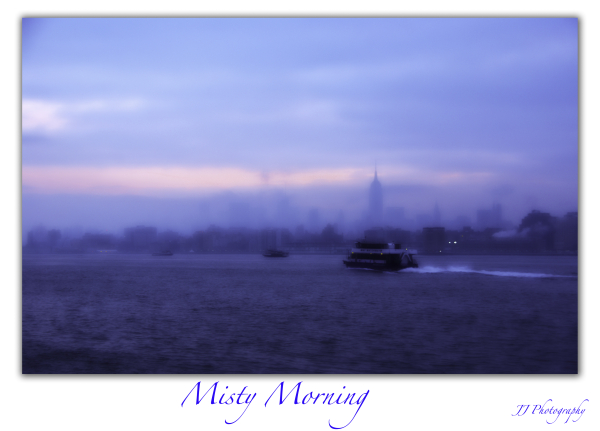 A misty morning in jersey City